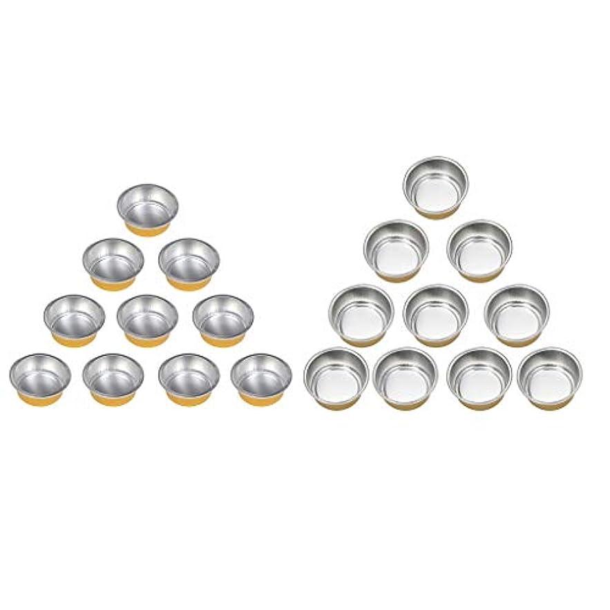 勝者クッション傾斜chiwanji ワックスヒーターマシンのための20個のホットアルミ箔ワックス溶融マグカップボウルポット錫