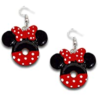 Mickey and Minnie Mouse Donut Candy Dangle Earrings Yum!! by Pashal