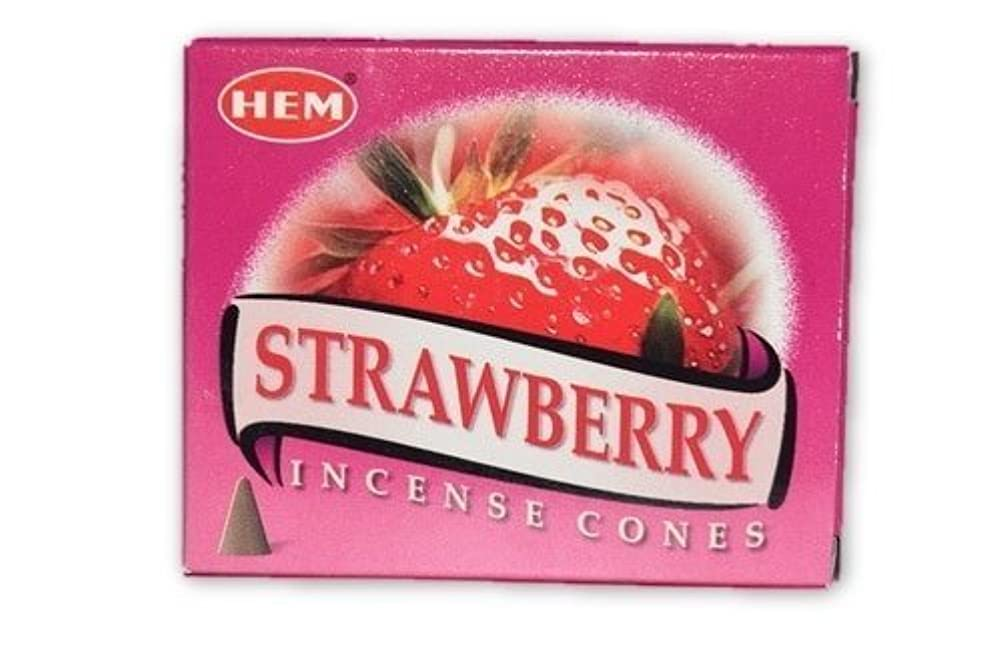 例シチリア家主Nature 's Enlightenment strawberry- Incense円錐pack- 10 Cones