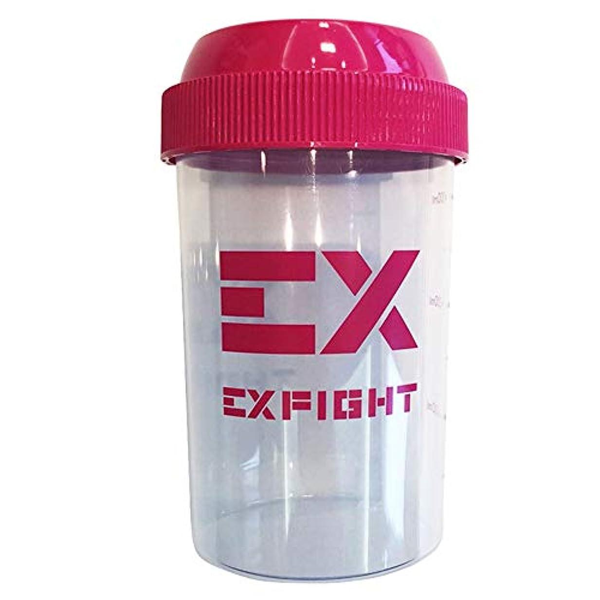 ファイターアトムヘビーEX-SHAKER シェイカーボトル ピンク 300ml(エクスサプリ EXSUPPLI シェーカー EXILE サプリ)
