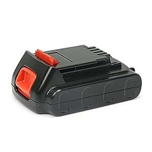 【POWERGIANT】ブラックアンドデッカー18V 2.0Ah Li-ionバッテリー BL2018 BL1518 BL1518N ブラックデッカーリチウムイオン電池パック EVO183P1 GLC1825LN GTC1850LN BPCI18JP EXI18電動工具用
