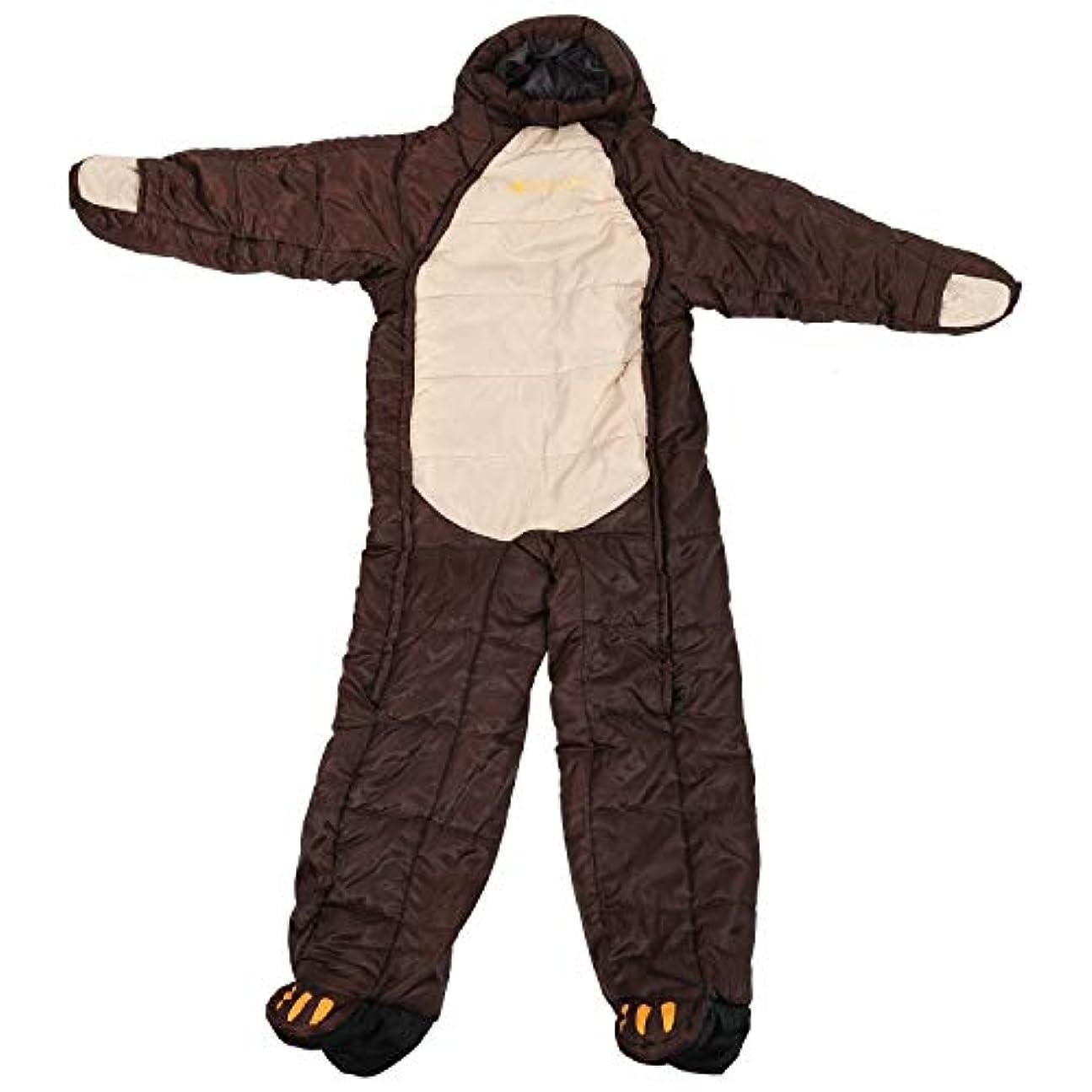 トラフ天気タイピストTOOGOO 防水ヒグマヒューマノイド寝袋 かわいいファッションアウトドアキャンプ寝袋-5℃-0℃暖かいポリエステルハイキングアドベンチャー冬アウトドアギア-XL