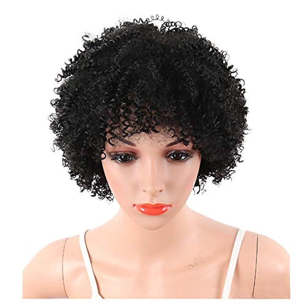 ヒューマニスティックコンパス一般化するYOUQIU ショートボブウィッグ女性ナチュラル人工毛かつら用6