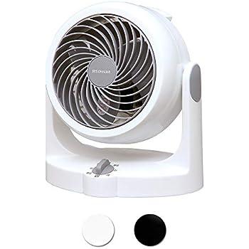 アイリスオーヤマ サーキュレーター 静音 首振り固定 8畳 パワフル送風 ホワイト PCF-HD15N-W