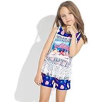 LHY- Girls Swimwear Baby Swim Trunks Female Baby Swimming Pool Dedicated Sports Swimsuit Split Girl Swimsuit Pretty (Color : B, Size : 8)