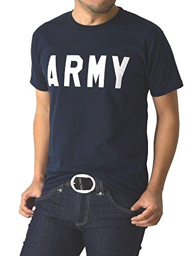 (リミテッドセレクト) LIMITED SELECT P2 Tシャツ 半袖 メンズ カットソー プリント Vネック クルー アメカジ ロゴ ミリタリー RQ0729 3L A-3 ネイビー
