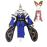 Fate/Grand Order キャス狐 玉藻の前 コスプレ衣装 (ウイッグ、耳付き) (S)