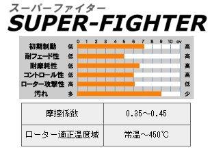 ACRE(アクレ) スーパーファイター[前後SET] ブレーキパッド ランエボX(10) CZ4A (GSR) brembo 07.11~ 2000 370 / 690