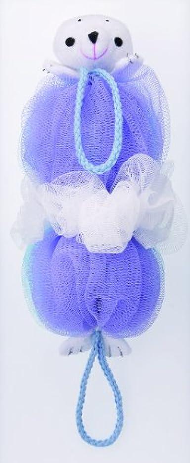 マーナ ボディースポンジ 「背中も洗えるシャボンボール」 アザラシ B876B