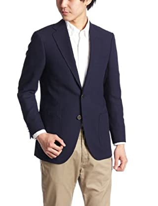 Wool Mesh 2-button Patch Pocket Jacket 3122-111-0348: Cobalt