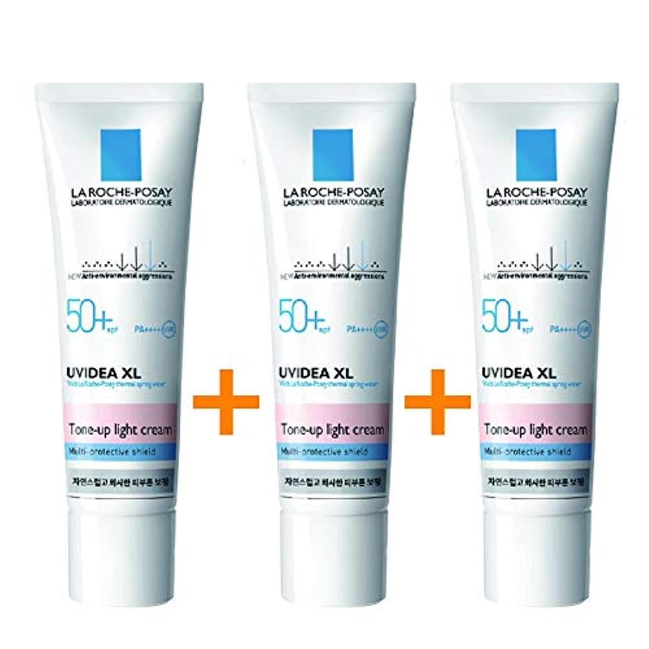 通行料金海峡ひも吸収[3個セット] La Roche-Posay ラロッシュポゼ UVイデア XL プロテクショントーンアップ Uvidea XL Tone-up Light Cream (30ml)
