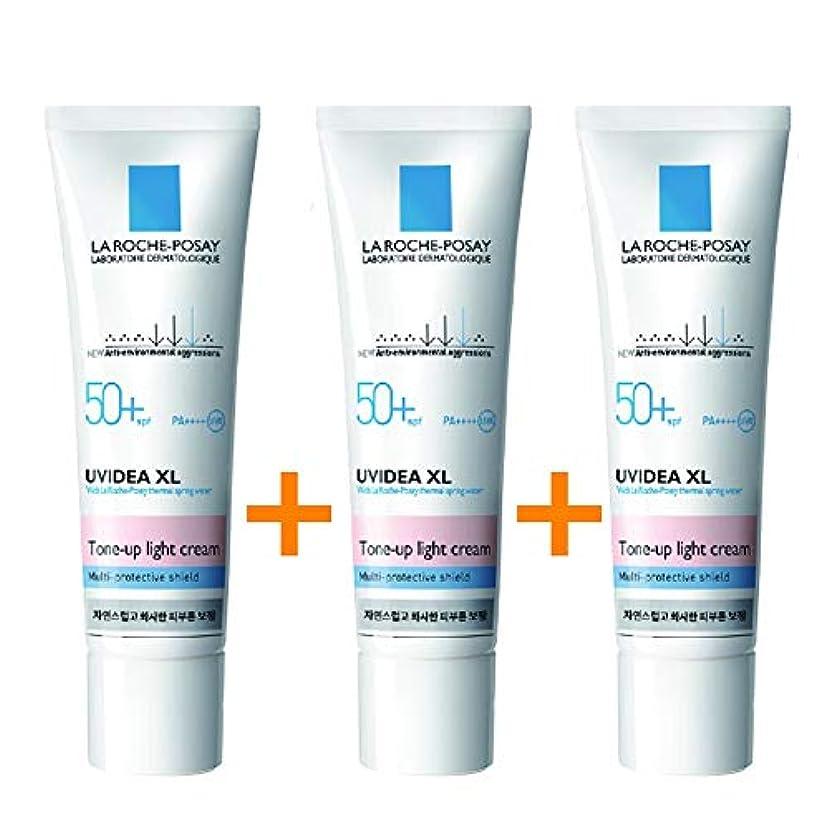 サイトライン非行作る[3個セット] La Roche-Posay ラロッシュポゼ UVイデア XL プロテクショントーンアップ Uvidea XL Tone-up Light Cream (30ml)