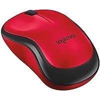 Logicool ロジクール 静音マウス M220RD レッド ワイヤレス クリック音90%以上軽減 音響工学設計 電池寿命18ヶ月 小型 コンパクト