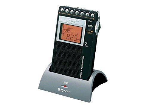ソニー SONY PLLシンセサイザーラジオ FM/AM/ワイドFM対応 片耳巻取り 名刺サイズ 充電キット付 ICF-R354MK