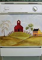 アプライアンスアートCow、バーン、シーンファーム動物馬Goose Lover 's country-side Rolling Hills食器洗い機カバー家キッチン装飾磁気ビニール 11302