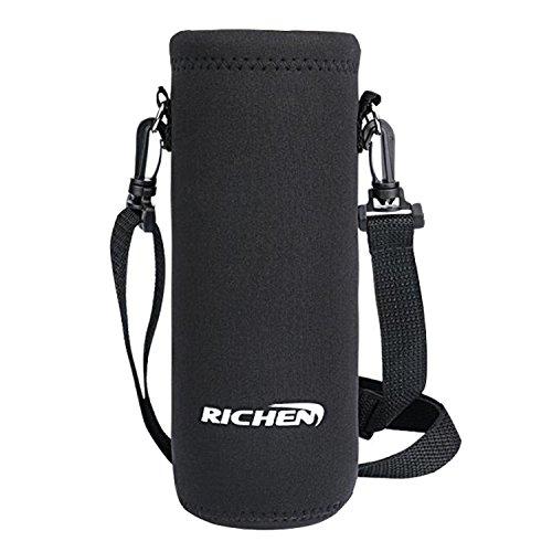 RICHEN 水筒カバー 携帯式ボトルカバー 水筒ケース 調節可能なショルダーストラップある (1000ML)
