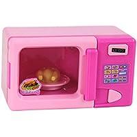 ノーブランド 品 2個 ドールハウス 電子レンジ 家電 ごっこ遊び おもちゃ ピンク