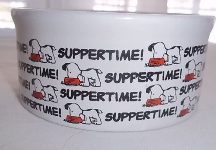 Peanuts Snoopy Suppertime! Small Dog Bowl by Peanuts