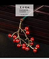 Dreav 缀物手作 フルーツの収穫 ネックレスペンダント 中国風レトロ