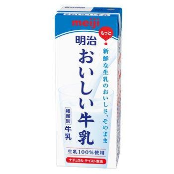 明治 おいしい牛乳 200ml 24本入