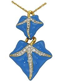 ブルーアイビーリーフペンダント – スワロフスキークリスタル – Licensed by VAヴィクトリア&アルバート美術館、ロンドン