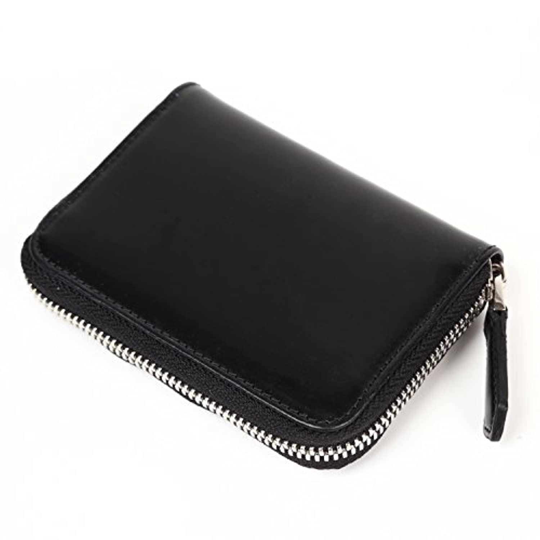 MURA (ムラ) コインケース メンズ 革 小銭入れ レザー ブライドルレザー ボックス 本革 父の日 カード 財布 (ブラック)