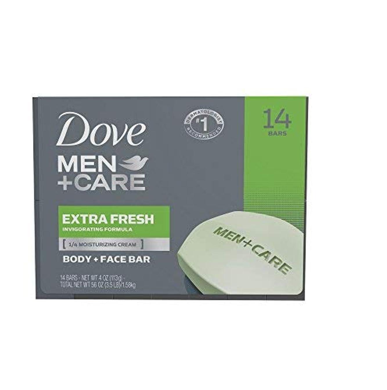 不満挑発するマインドフルDove Men+Care Soap Bars Extra Fresh (4 oz. 14 ct.) [並行輸入品]