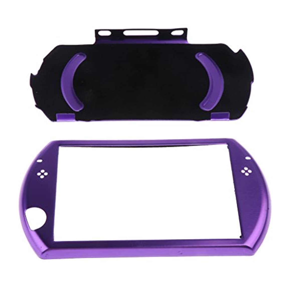 見る銛ドナーSONONIA ソニーPSP GOコントローラに対応 保護 アルミ キャリー ハード ケースカバー 滑り防止 全5色 - 紫