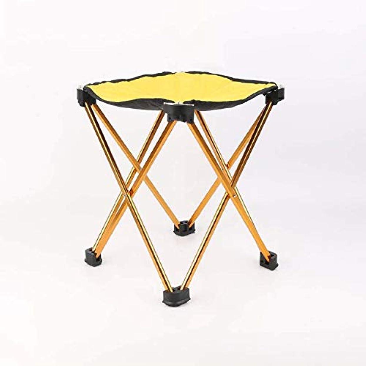 コンサルタントうまくやる()極貧屋外ポータブル折りたたみ椅子キャンプスツール小さなマザライトレジャーレジャー快適さピクニック旅行釣り登山バーベキュー公園ビーチ黄色