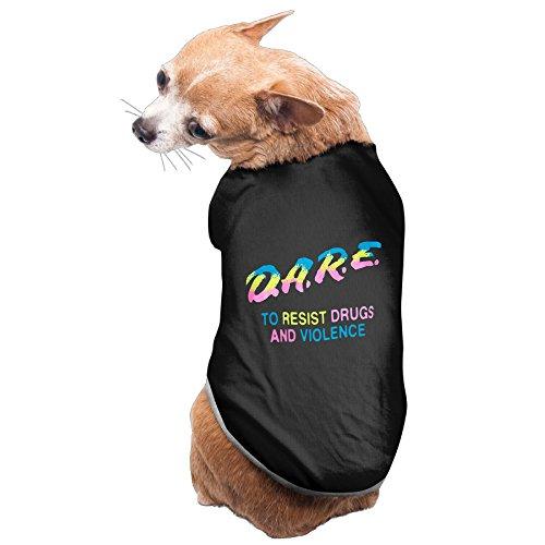 Tezei カゼイ ドッグ 犬 ウェア 今季最新 猫服 いじめ 麻薬 反対 虹 字母柄 かわいい Black Small