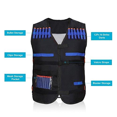 [해외]엘리트 전술 조끼 + 고글 + 20 매 7.2cm 블루 소프트 폼 다트 나후 N- 스트라이크 엘리트 범용 다트 나후 Nerf 대응 소프트 총알/Elite Tactical Vest + Goggles + 20 Sheets 7.2 cm Blue Softform Darts Nursing N-Strike Elite Universal Darts Nu...
