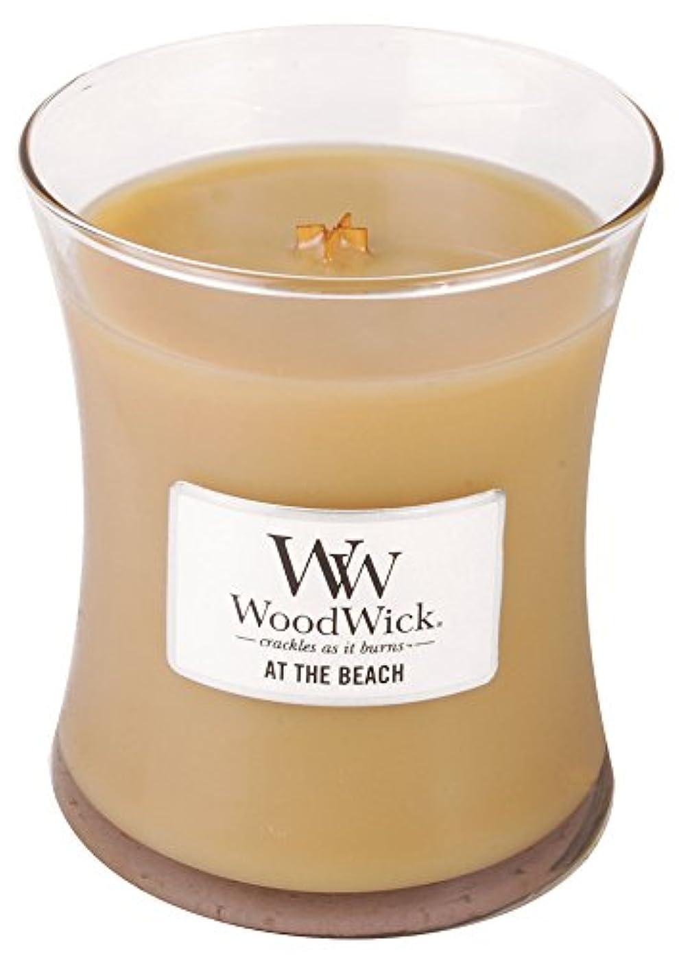 特徴づける固める不器用WOODWICK SCENTED CANDLE 300ml AT THE BEACH 92250