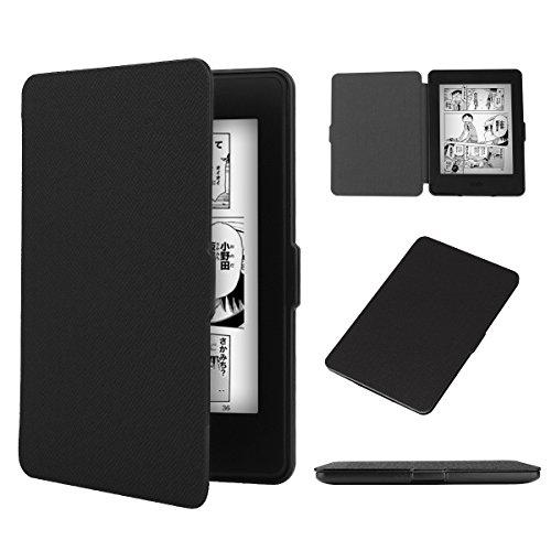 ENNAHUI Kindle Paperwhite 専用 ケース PUレザー スリム ハード ケース【全3色】 オートスリープ機能 Kindle Paperwhite 対応ブラックカバー Kindle Paperwhite1/2/3/5/6世代対応