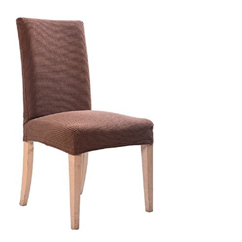 ILIJUN 1枚 4枚 セット 椅子カバー チェアカバー 伸縮素材 選べる 11色 (4枚, G)