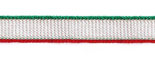 NBK フリンジテープ スリーカラーズ 約39mm×5m 白 緑 赤 TAS3500-37