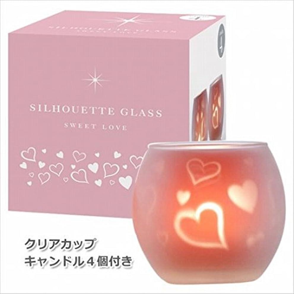 可決ギャロップ親カメヤマキャンドル(kameyama candle) スウィートラブ2【キャンドル4個付き】 シルエットグラス