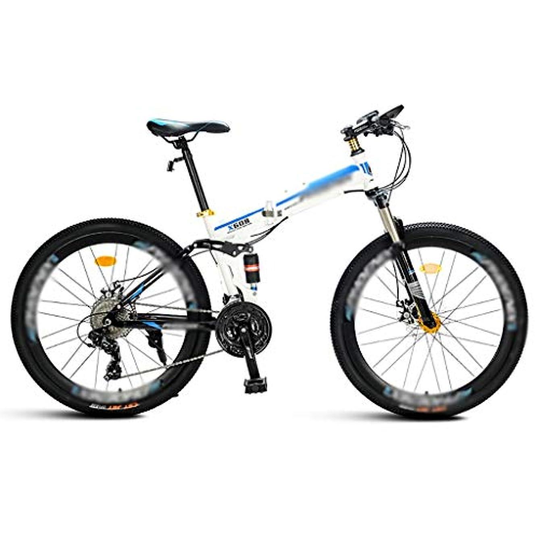 令状毎回マニア21スピード折りたたみマウンテンバイク、26インチ、男性と女性の学生ダブルショックアブソーバー、折りたたみ自転車デュアルディスクブレーキ