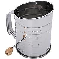 Dovewill 高品質 シフター シェーカー スケール付き 小麦粉 砂糖 粉ふるい器 ステンレス 調理器具 ハンドル式