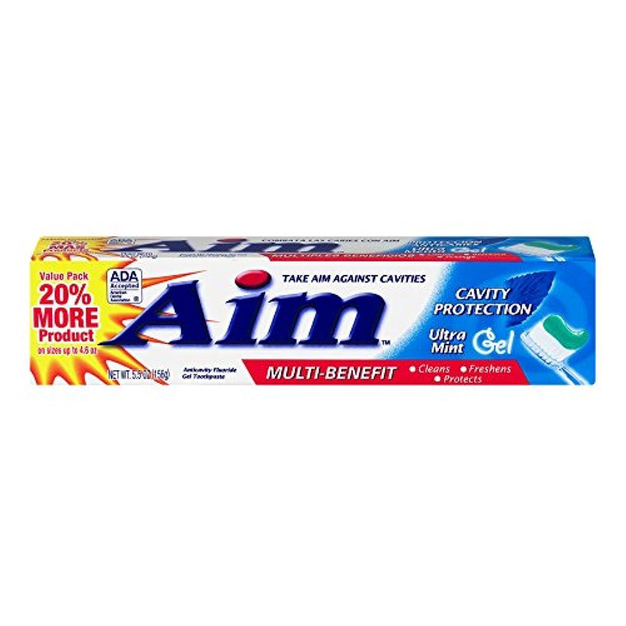 イライラする免疫チケットAIM 空洞保護歯磨きウルトラミントジェル、5.5オンス、4パック 4パック