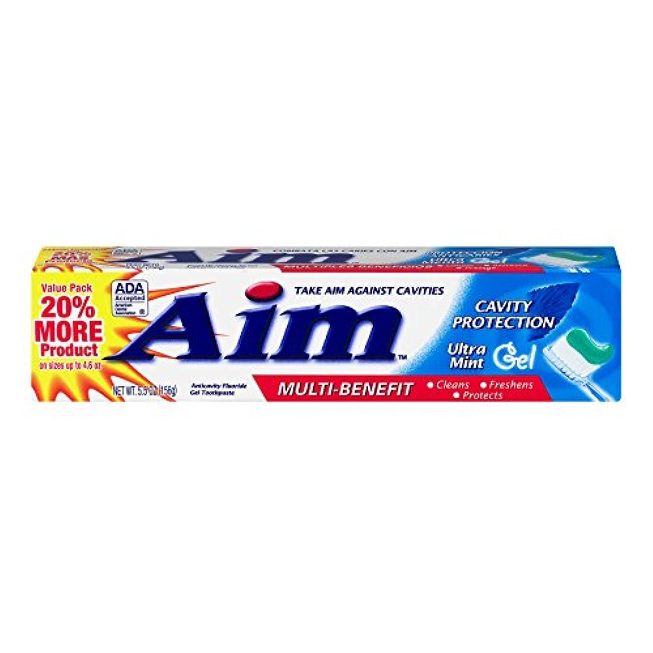 ぼんやりした学校の先生風変わりなAIM 空洞保護歯磨きウルトラミントジェル、5.5オンス、4パック 4パック