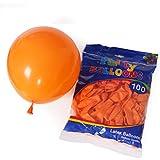 Yajianzh 13インチ厚い黒ラテックスバルーンクリスマスハロウィンパーティーデコレーションバルーン バルーン (Color : Orange)