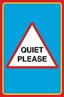 Quiet Plesae 注意看板メタル安全標識注意マー表示パネル金属板のブリキ看板情報サイントイレ公共場所駐車ペット誕生日新年クリスマスパーティーギフト