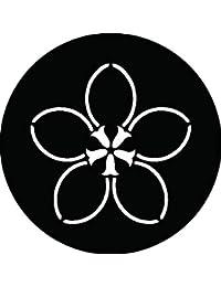家紋シール 松葉桔梗紋 布タイプ 直径40mm 6枚セット NS4-1897