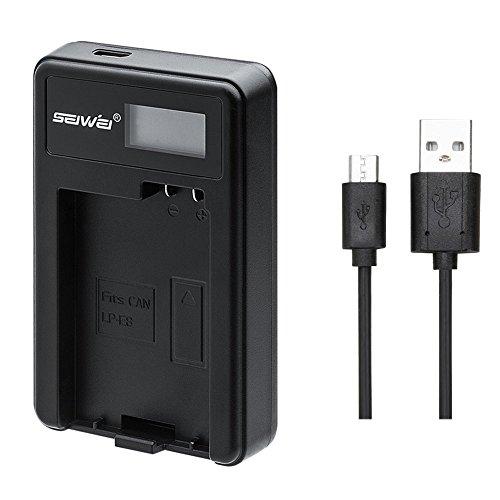 良いも CANON LP-E8 対応新型USB充電器 LCD付4段階表示仕様 Kiss X4/Rebel T2i /Rebel T3i/550D/600D