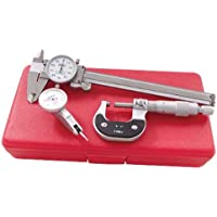 3 PIECE DIAL CALIPER - MIC.- INDICATOR INSPECTION TOOL KIT by HHIP