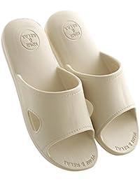 Mianshe 北欧 超軽量 サンダル スリッパ おしゃれ 抗菌衛生 歩きやすい 滑り止め 来客用 男女兼用 カーキ L