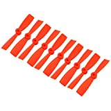 uxcell 5 Pairs 4 x 4.5 inches Orange 2-Vanes Flat Prop Propeller for RC Aircraft