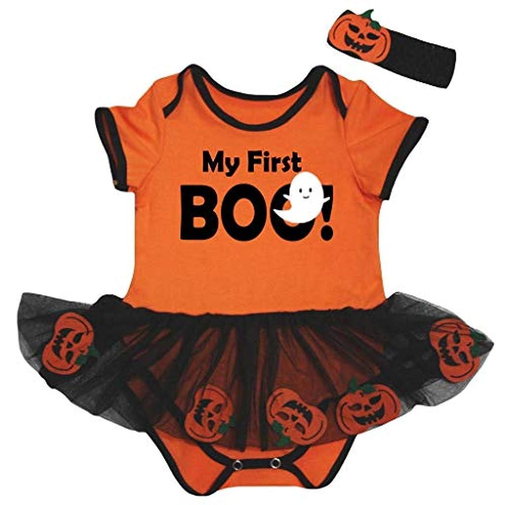 研究の克服する[キッズコーナー] ハロウィン My First Boo Ghost オレンジ カボチャ 子供ボディスーツ、子供のチュチュ、ベビー服、女の子のワンピースドレス Nb-18m (オレンジ, Medium) [並行輸入品]