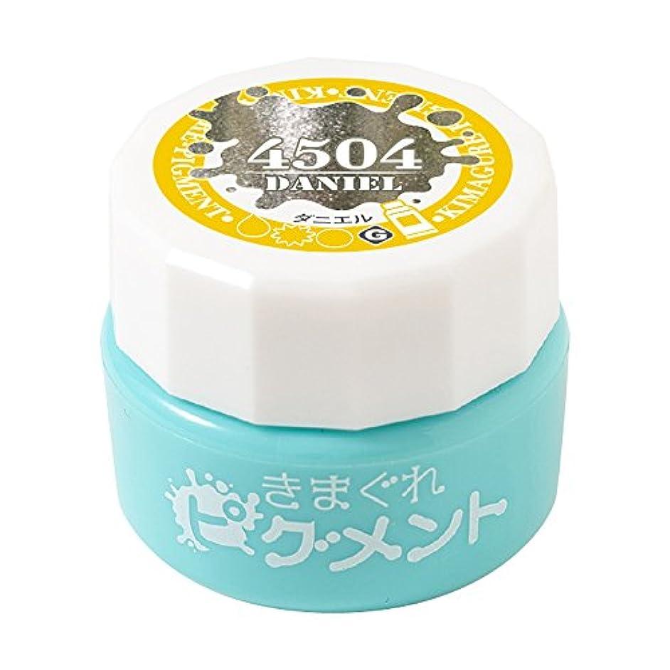 略語菊強制Bettygel きまぐれピグメント ダニエル QYJ-4504 4g UV/LED対応