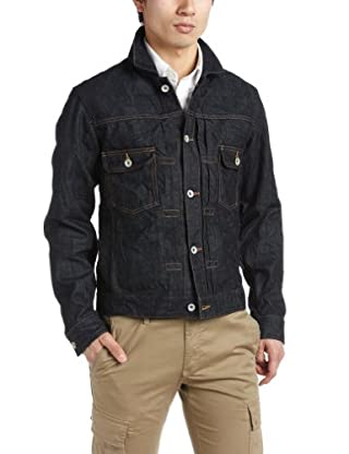Organic Denim Jean Jacket 3225-199-1448: Navy